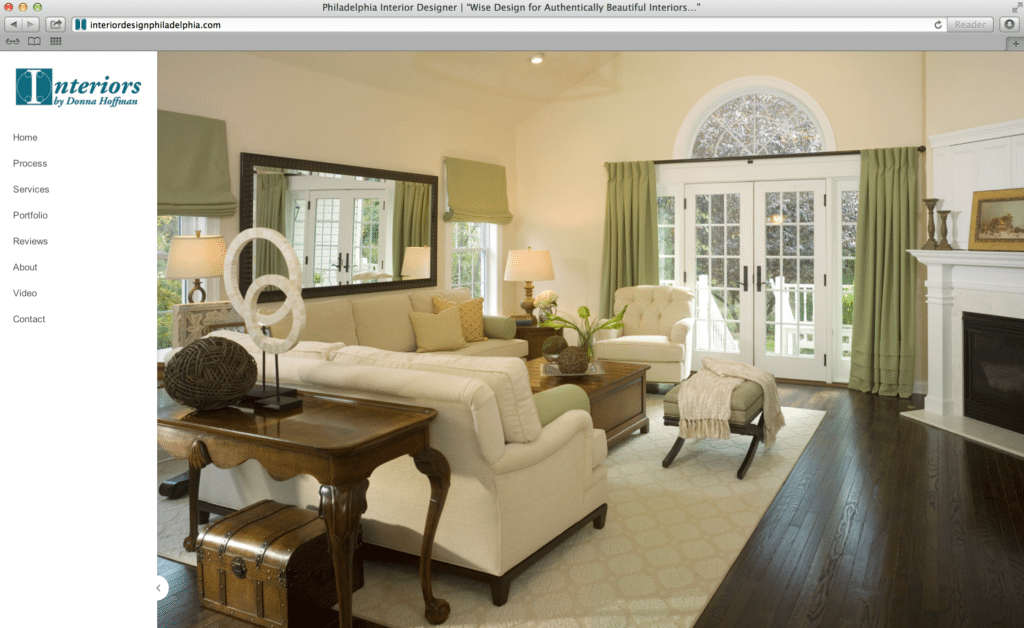 Interior design website design Interior decorating websites